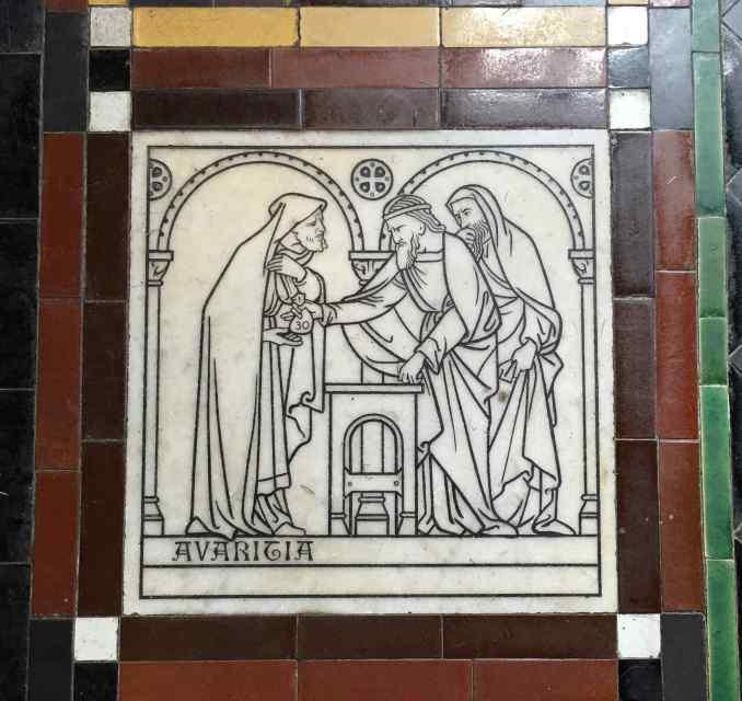 St John the Baptist Frome Avaritia