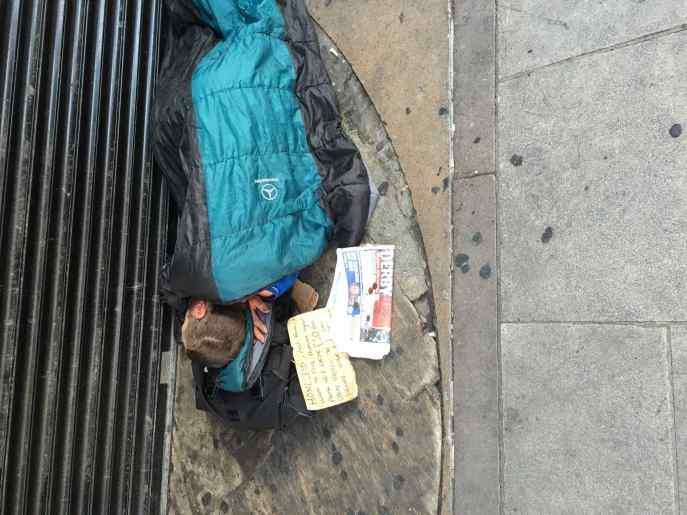 Soho -pavement human-habited