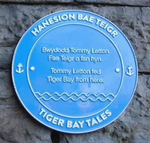 Tiger Bay plaque