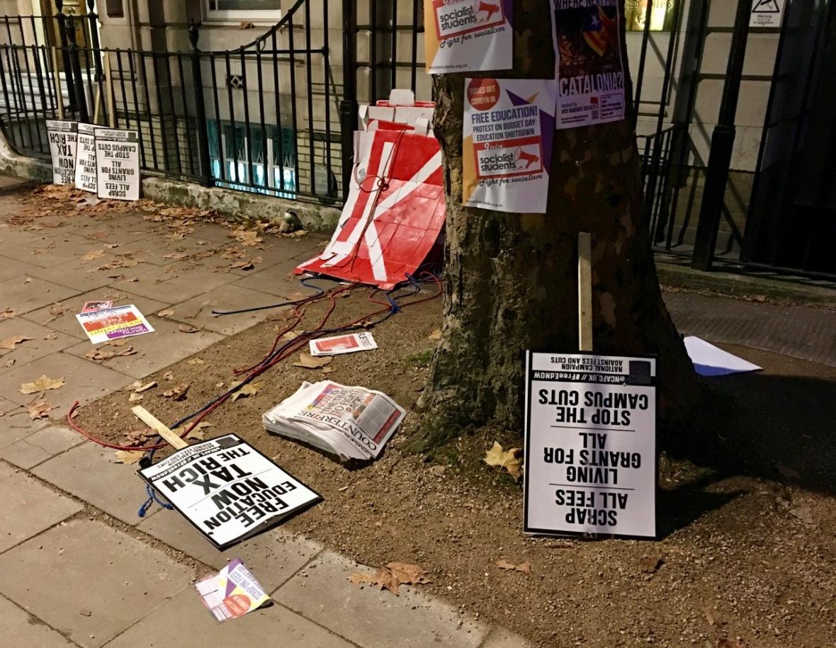 London demo trash