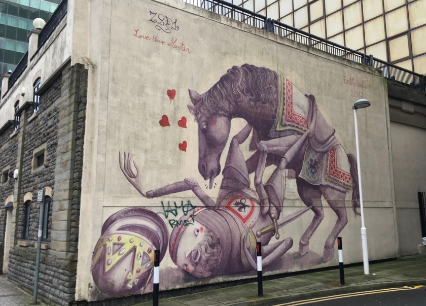 Cardiff knight mural